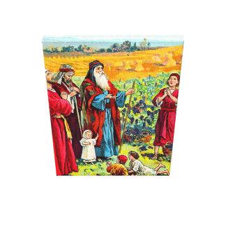 Deuteronomyの8:6 -すべてのための10賛美の神彼はcを与えます キャンバスプリント