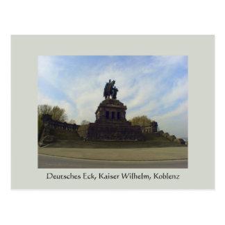 Deutsches Eck、Kaiserウィルヘルム、コブレンツ、ドイツ ポストカード