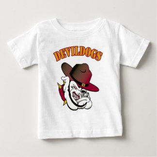 Devildogsのフットボール ベビーTシャツ