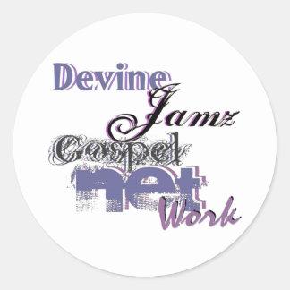 Devine Jamzの福音ネットワーク ラウンドシール