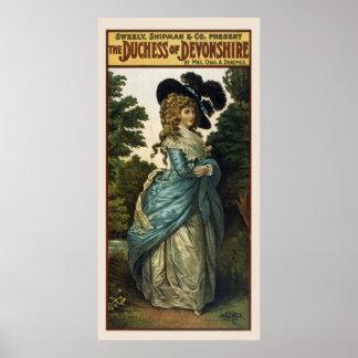 Devonshireのヴィンテージポスターの公爵夫人 ポスター
