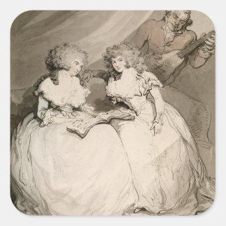 Devonshireの公爵夫人および彼女の姉妹、Coun スクエアシール