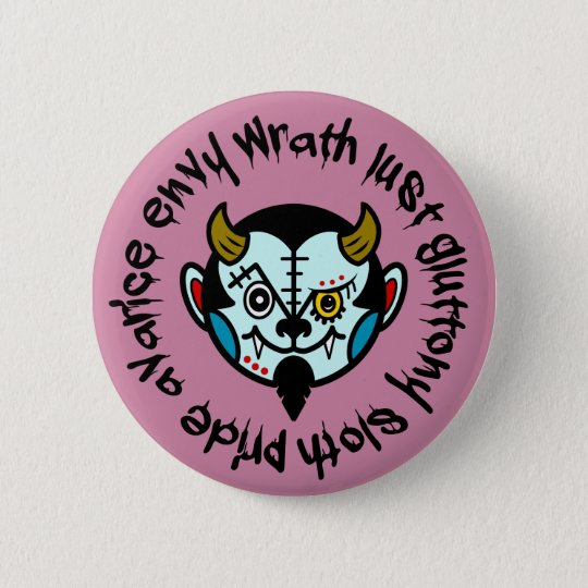 "DEVULL ""Seven Deadly Sins"" Button badges 5.7cm 丸型バッジ"