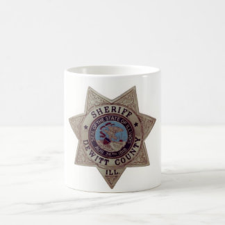 Dewitt郡の保安官のマグ コーヒーマグカップ