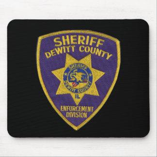 Dewitt郡の保安官Deptパッチ マウスパッド