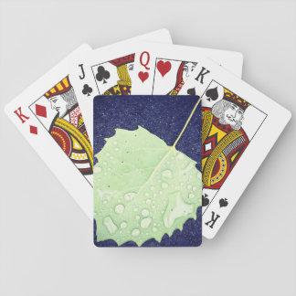 Dewy葉テーマの遊ぶカード標準的な索引の顔 トランプ