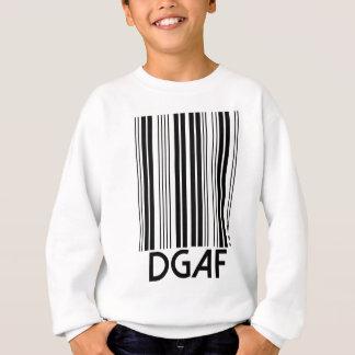 DGAFのバーコード スウェットシャツ