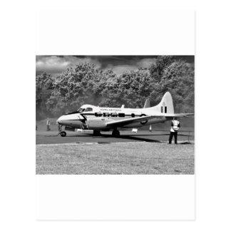 DH104デボンの航空機 ポストカード