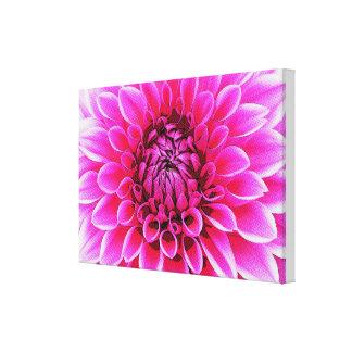 DHALIAの花のヴィンテージの芸術 キャンバスプリント
