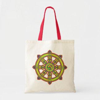 Dharmaの仏教のチャクラ トートバッグ