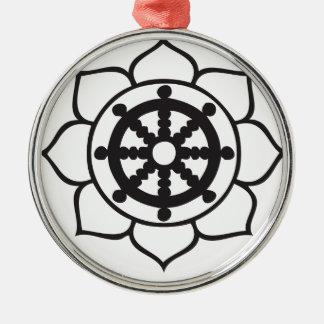 Dharmaの車輪のはす メタルオーナメント
