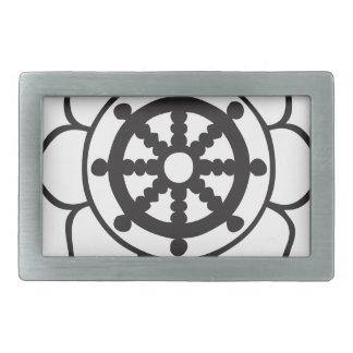 Dharmaの車輪のはす 長方形ベルトバックル