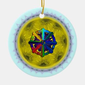 Dharmaの車輪のデイジーのオーナメント セラミックオーナメント