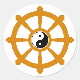 Dharmaの車輪の陰陽 ラウンドシール