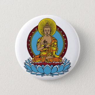 Dharmachakra仏 5.7cm 丸型バッジ