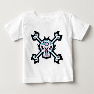 「Dia死んだde Muertos」のスカルのメキシコ日 ベビーTシャツ