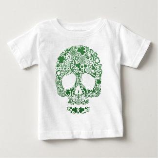 Dia de los muertosのスカルのデザインのワイシャツ ベビーTシャツ