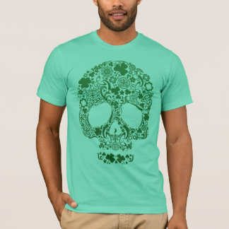 Dia de los muertosのスカルのデザインのワイシャツ tシャツ