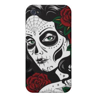 Dia de los muertosの女の子のIphone 4ケース iPhone 4 カバー