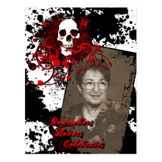 dia de los muertosの記念物のお祝い ポストカード