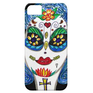 Dia de los Muertos女性のiPhone 5の場合 iPhone SE/5/5s ケース