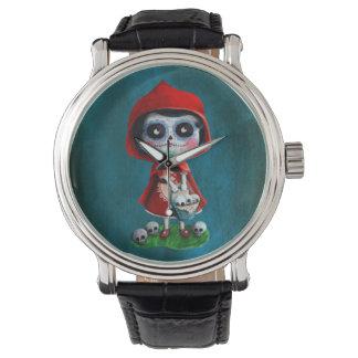 Dia de los Muertos赤ずきん 腕時計