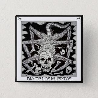 Dia de los muertos -ホセポザーダボタン 5.1cm 正方形バッジ