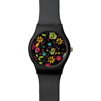 Dia De Los Muertos (黒) 腕時計