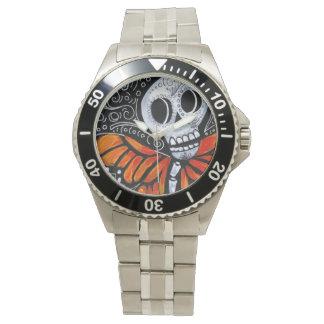 Dia de los Muertos 3のステンレス鋼の腕時計 腕時計