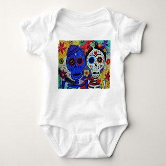 Dia de los Muertos Babyメキシコ人のArtistのワイシャツ ベビーボディスーツ