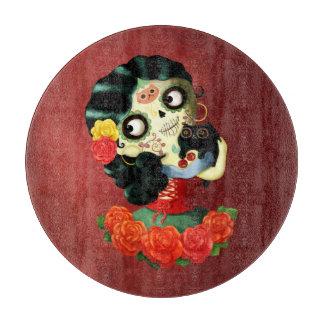Dia de Los Muertos Lovelyののメキシコ人のCatrinaの女の子 カッティングボード