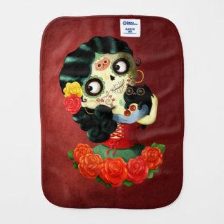 Dia de Los Muertos Lovelyののメキシコ人のCatrinaの女の子 バープクロス
