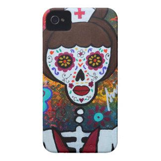 DIA DE LOS MUERTOS NURSE iPhone 4 Case-Mate ケース