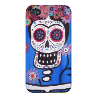 Dia de los Muertos Senorita iPhone 4 Case