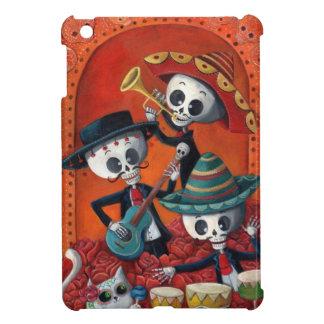 Dia de Los Muertos Skeletonのマリアッチのトリオ iPad Miniケース