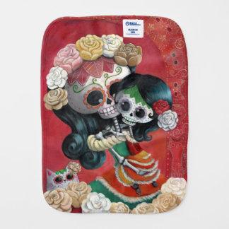 Dia de Los Muertos Skeletonsの母および娘 バープクロス