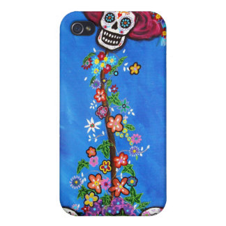 Dia de Los Muertos Skulls iPhone 4 カバー