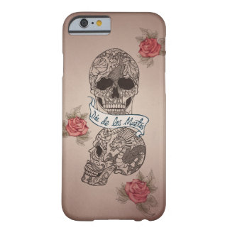 Dia De Los Muertos Sugarのスカル Barely There iPhone 6 ケース