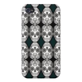 Dia de los Muertos Thatの女の子のスカルのダイヤモンドパターン iPhone 4/4S Case
