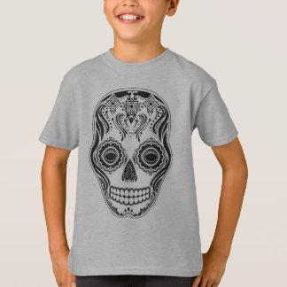 Dia de los Muertos Thatの女の子のスカル Tシャツ