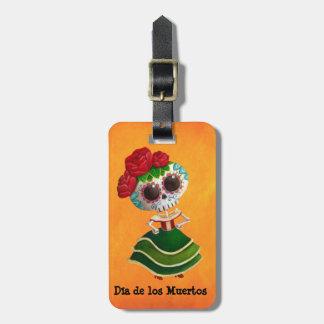 Dia de Muertos Mexicanの失敗の死 ラゲッジタグ