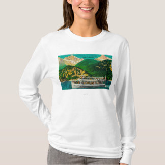 diablo湖、Skagitのツーリストの汽船 Tシャツ