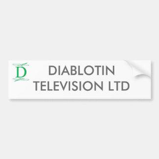 DIABLOTINのテレビ株式会社 バンパーステッカー