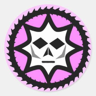 Diabolichixのクラシックのロゴ ラウンドシール