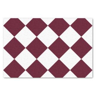 Diagは大きい-白くおよび暗い深紅市松模様にしました 薄葉紙