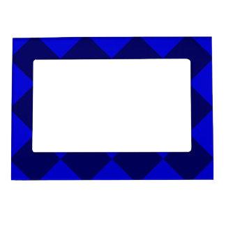 Diagは大きい-青く、濃紺市松模様にしました マグネットフレーム