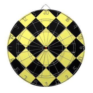 Diagは大きい-黒およびレモン市松模様にしました ダーツボード
