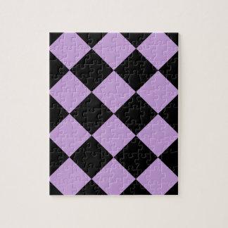 Diagは大きい-黒および藤市松模様にしました ジグソーパズル