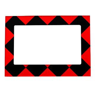 Diagは大きい-黒および赤市松模様にしました マグネットフレーム