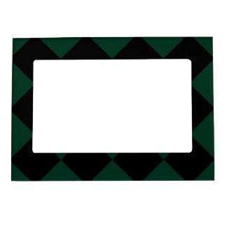 Diagは大きい-黒く、深緑色市松模様にしました マグネットフレーム